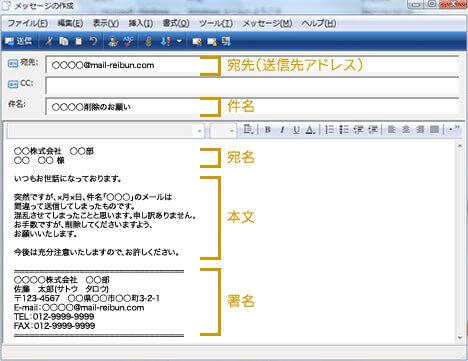 ビジネス メール例文【メールの構成】